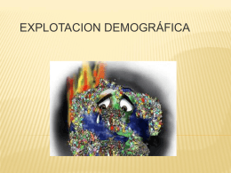 Explotacion demográfica