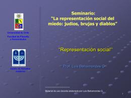 """Representación social"""""""