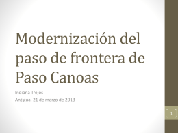 Modernización del paso de frontera de Paso Canoas