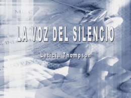 La_voz_del_silencio - Page créée exclusivement