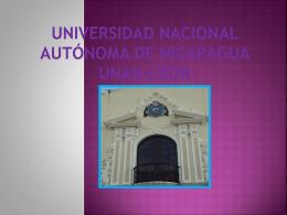 Universidad Nacional Autónoma de Nicaragua