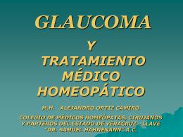 GLAUCOMA Y TRATAMIENTO MÉDICO HOMEOÁPTICO