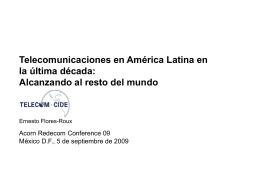 Telecomunicaciones en América Latina en la última