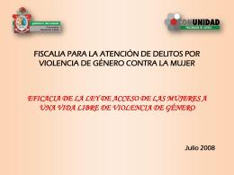 FISCALIA PARA LA ATENCIÓN DE DELITOS POR VIOLENCIA