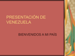 PREESNTACÌON DE VENEZUEALA
