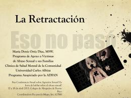 MEMORIA, DESARROLLO Y RETRACTACCIÓN EN NIÑos/as