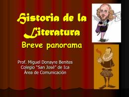 Historia de la Literatura Breve panorama 2º parte