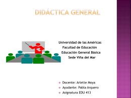 DIDÁCTICA GENERAL I
