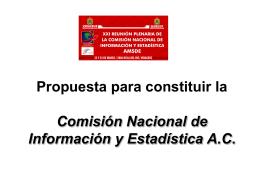 Propuesta para constituir la Comisión Nacional de