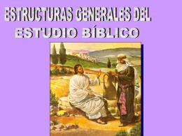 Estructura General del Estudio Biblico