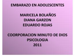 EMBARAZO EN ADOLESCENTES MARICELA BOLAÑOS DIANA