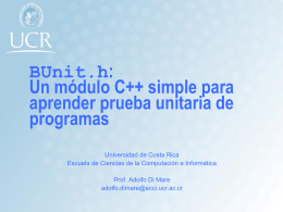 BUnit.h: Un módulo C++ simple para aprender prueba