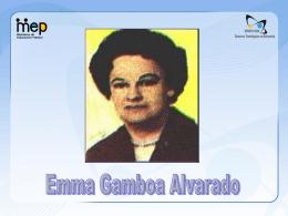 Emma Gamboa Alvarado - Ministerio de Educación