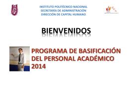 PROGRAMA DE BASIFICACIÓN 2014