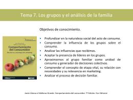 Tema 7. Los grupos y el análisis de la familia