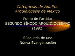 Catequesis de Adultos Arquidiócesis de México