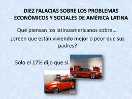 DIEZ FALACIAS SOBRE LOS PROBLEMAS ECONÓMICOS Y