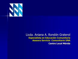 Diapositiva 1 - UNA - Centro Local Mérida