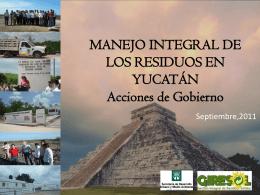 MANEJO INTEGRAL DE LOS RESIDUOS EN YUCATÁN