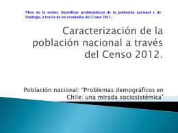 Problemas demográficos en Chile: una mirada