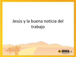 Jesús y la buena noticia del trabajo