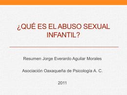 Qué es el abuso sexual infantil