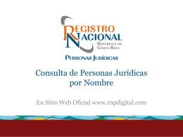 Consulta de Personas Jurídicas por Nombre