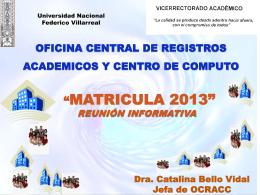 Oficina Central de Registros Académicos y Centro