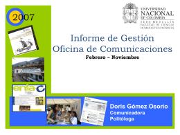 Informe de Gestión Oficina de Comunicaciones 2007