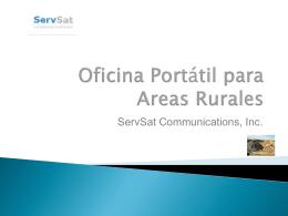 Oficina Portátil para Areas Rurales