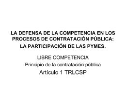 LIBRE COMPETENCIA - Fundación Ramón Sáinz de