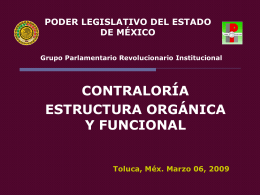 PODER LEGISLATIVO DEL ESTADO DE MÉXICO