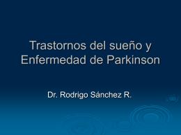 Trastornos del sueño y Enfermedad de Parkinson