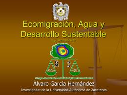 Ecomigración, Agua y Desarrollo Sustentable