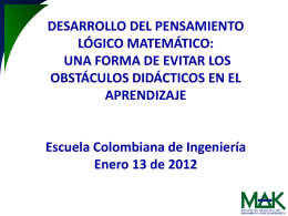 OBSTÁCULOS DIDÁCTICOS - virtual.escuelaing.edu.co