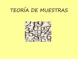 TEORÍA DE MUESTRAS