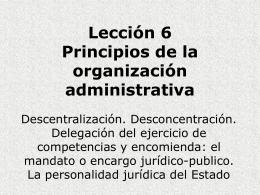 Tema 6 Principios de la organización