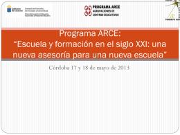 """Programa ARCE: """"Escuela y formación en el siglo"""