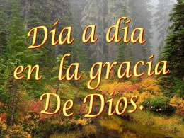 Día a día en la gracia de Dios