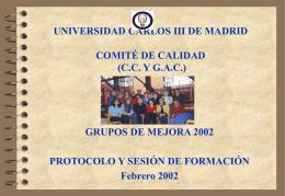 UNIVERSIDAD CARLOS III DE MADRID COMITÉ DE CALIDAD