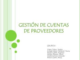 GESTIÓN DE CUENTAS DE PROVEEDORES