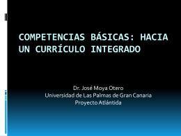 Competencias básicas: hacia un currículo integrado