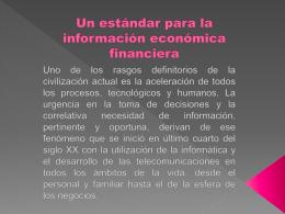 Un estándar para la información