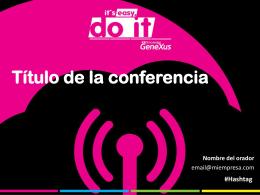 Título de la conferencia