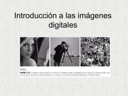 Introducción a las imágenes digitales