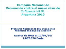 Registro de avances semana 1 de campaña Argentina