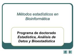 Métodos estadísticos en Bioinformática