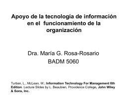 Apoyo de la tecnología de información en el
