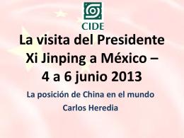 La visita del Presidente Xi Jinping a México – 4 a