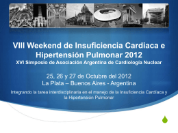 VIII Weekend de Insuficiencia Cardiaca e